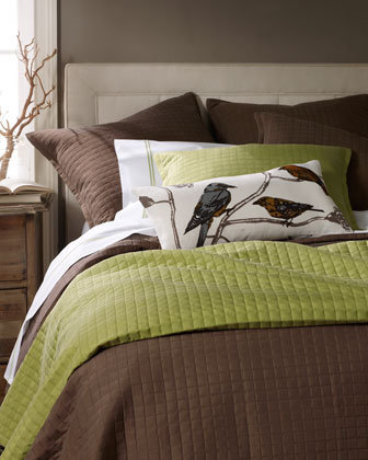 "Ann Gish - Bird Pillow & ""Ready-To-Bed"" Linens - Horchow"