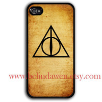 iPhone 4 Case, iphone 4s case, Deathly hallows iphone 4 case, harry potter, Deathly Hallows
