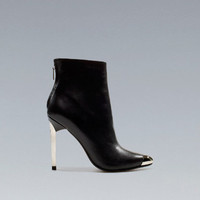 ANKLE BOOT WITH METAL TOE - Shoes - Woman - ZARA United States