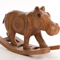 Wooden Rocking Hippo