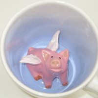 Flying Pig Surprise Mug