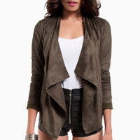 Oh Faux Sho Draped Jacket $52