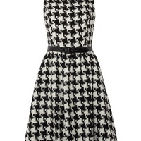Untold Houndstooth prom dress Black Ivory - House of Fraser
