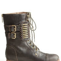 Knightly Combat Boots By Matiko - $210.00: ThreadSence, Women's Indie & Bohemian Clothing, Dresses, & Accessories
