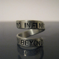 To infinity and beyond,  Infinity ring, Bridesmaid gift, Best friend gifts, Twist ring, Adjustable ring