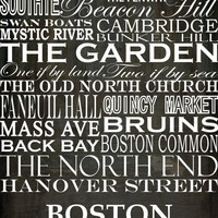 Boston Art Print by CassieT | Society6