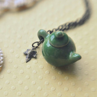tea on an autumn day necklace by bellehibou on Etsy