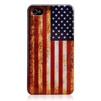 American Flag Hard Plastic Case for Iphone 4 & 4s