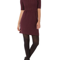 Aubergine ottoman flare dress - Dresses - New In Clothing  - What's New