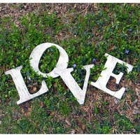 Modern Love Letters Distressed Wedding Pop Art by SlippinSouthern
