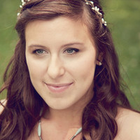 ivory headband, rustic wedding,  flower bridal crown, bridal headpiece