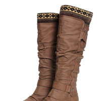 Willow Tan Navajo Lined Knee High Boot