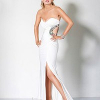 Unique Sweetheart Natural Floor-length White Evening Dresses [10114952] - US$117.99 : DressKindom