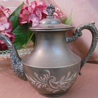 Vintage Pewter TeapotVintage tea potvintage by GraceandLilys