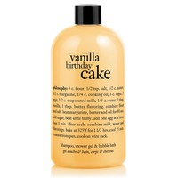 vanilla birthday cake | shampoo, shower gel & bubble bath | philosophy bath & shower gels