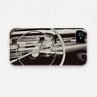 iPhone 5 Case, Vintage Cadillac Dash, Vintage Car iPhone 5 Case, Black and White, iPhone Case for Men, Hipster, Cool, Mad Men iPhone Case.