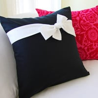 Decorative Bow Tie Pillow Cover 18x18 Slipcover