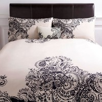 Black Paisley print bed linen - House of Fraser
