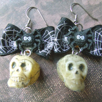 Day of the Dead Gothic Skull Earrings
