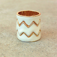 Still Valley Zig Zag Ring [3407] - $16.00 : Vintage Inspired Clothing &amp; Affordable Fall Frocks, deloom | Modern. Vintage. Crafted.