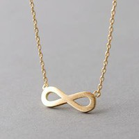 SURFACE GOLD INFINITY NECKLACE PENDANT INFINITY SIGN JEWELRY  from KELLINSILVER.COM - FASHION JEWELRY SHOP AS ETSY