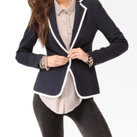 Contrast Single Button Blazer | FOREVER21 - 2021839605