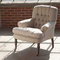 Tufted Back Arm Chair