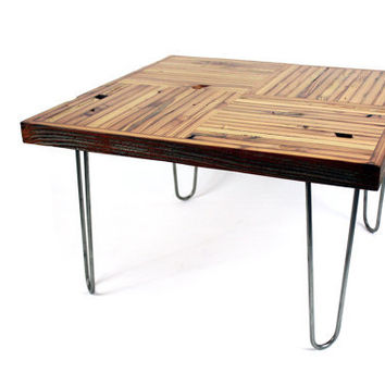 Reclaimed wood coffee table rustic from wearemfeo on etsy Eco friendly coffee table