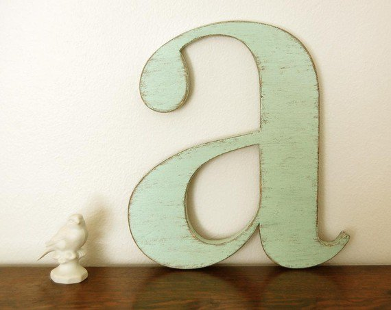 Nursery Decor Wooden Wall Letters : Nursery wall letters wood letter a from oldnewagain on