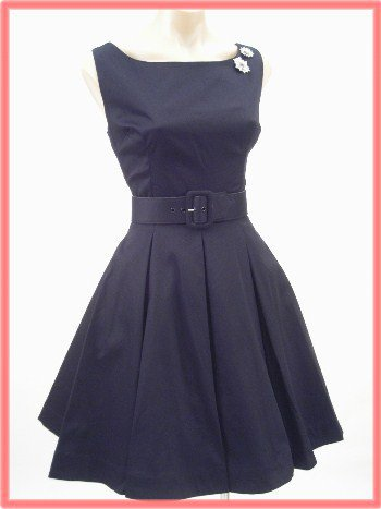 Trashy Diva Classic 1950s Inspired Little Black Dress-Vintage Style Dresses