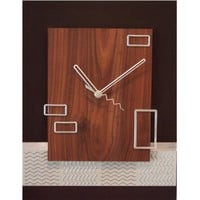 Modern brown 135 x 105 clock with floating by astrokeofgenius