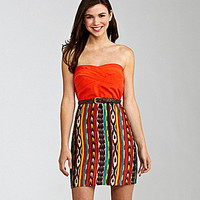 Teeze Me Printed Tube Dress | Dillards.com