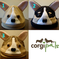 ADULT Fleece Welsh Corgi Hats - CorgiPals