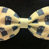Dr. Who TARDIS Themed Fabric Hair Bow (Sneak Preview)