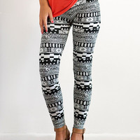 Aztec Print Cotton Leggings