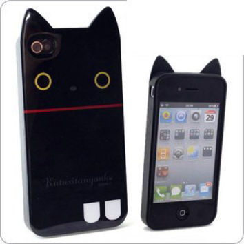 Apple iPhone4 Cat and Bear Ear Skin Shell Cover