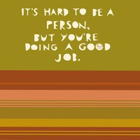 $12.00 it's hard to be a person  5x7 print by laurageorge on Etsy
