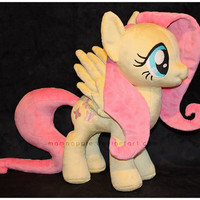 Custom Fluttershy Minky Plush - My Little Pony - Made To Order