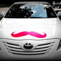 Giant Mustache Vinyl Decal - The Handlebar - HOT PINK