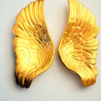 Angel Wings Wall Art - Midas- Angel wing sculpture- Decorative Angel or Bird Ceramic Wings. Angel Wings Wall Decor