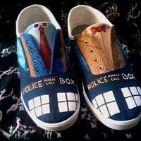 Hand Painted Shoes inspired by Doctor Who