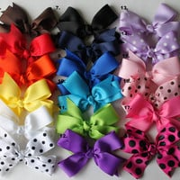 Hair Bows - Girl Bows - Baby Hair Bows - Large Size - Pick 5