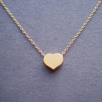 simple goldfilled heart necklace