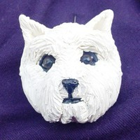 Handmade Polymer Clay West Highland White Terrier dog pin