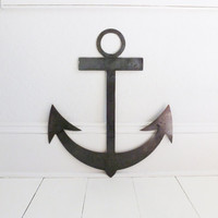 Large Custom Made Metal Anchor - Wall Hanging, Nautical, Sailor, Industrial