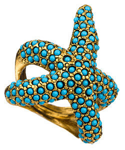 Kenneth Jay Lane Turquoise Starfish Ring - Max and Chloe
