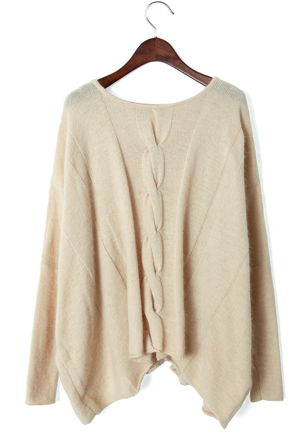 cream cable knit oversized sweater from ustrendy sweaters. Black Bedroom Furniture Sets. Home Design Ideas