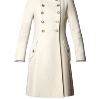 Mango Military style coat Ivory - House of Fraser