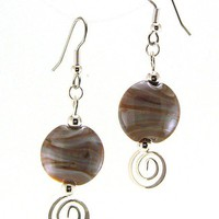 Sonoran Sunset Lampworked Glass Bead Earrings by MercuryGlass