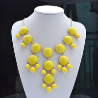Yellow Bubble Necklace, Bib Stateme.. on Luulla